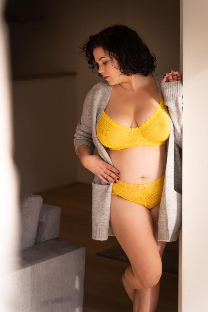 lingerie jaune boudoir